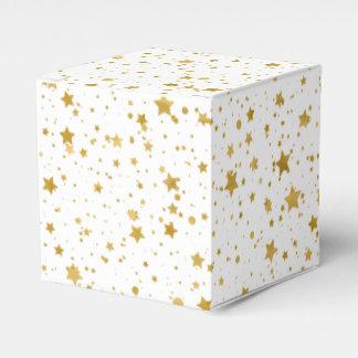 Goldene Stars2 - Reines Weißes Geschenkschachtel