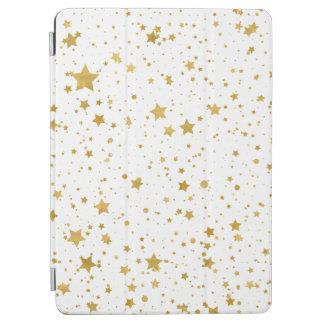 Goldene Stars2 - Reines Weißes iPad Air Hülle