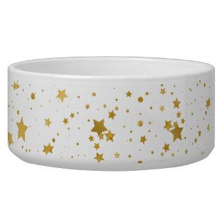 Goldene Stars2 - Reines Weißes Napf
