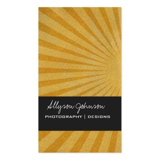 Goldene Stern-Explosions-Hintergrund-Visitenkarten