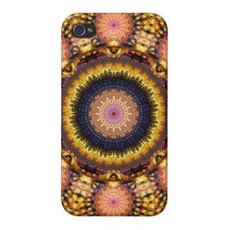 Goldene Stern-Explosions-Mandala iPhone 4/4S Cover