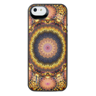 Goldene Stern-Explosions-Mandala iPhone SE/5/5s Batterie Hülle