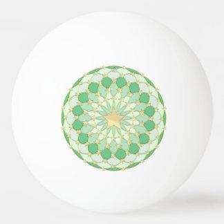 Goldene Sterne der Matrix, die Kreispastellgrün Tischtennis Ball