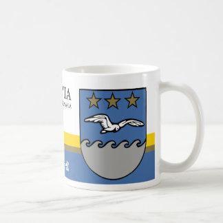 Goldene Sterne der Weiß-Tauben-drei von Jurmala Kaffeetasse