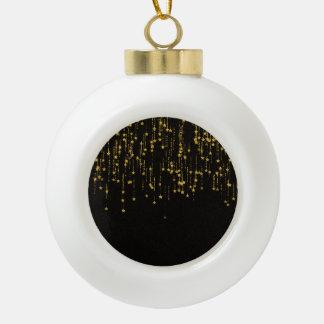 Goldene Sterne Keramik Kugel-Ornament
