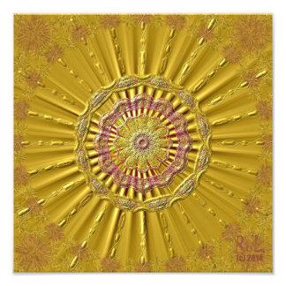"""Goldene Strahlen"" als Fotodruck ca. 30 cm x 30 cm"
