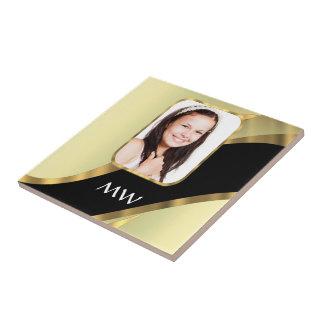 Goldene Strudel-Fotoschablone Fliese