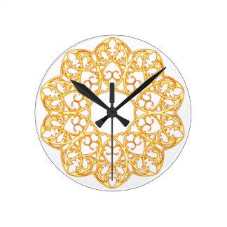 Goldene Strudel-Spitzen-Uhr Runde Wanduhr