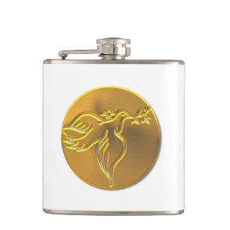 Goldene Taube des Friedens - Heiliger Geist Flachmann