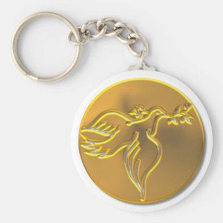 Goldene Taube des Friedens - Heiliger Geist Schlüsselanhänger