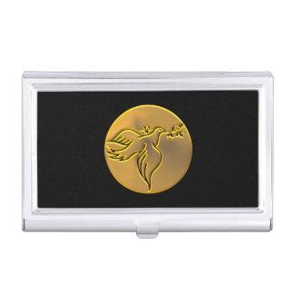 Goldene Taube des Friedens - Heiliger Geist Visitenkarten Etui