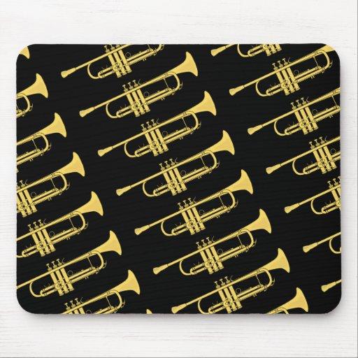Goldene Trompete-Musik-Thema Mousepad