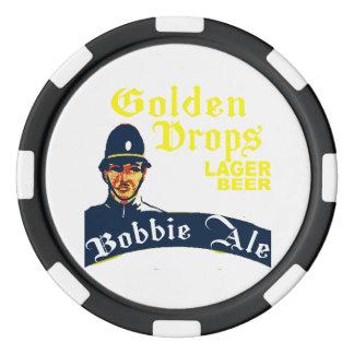 Goldene Tropfen/Bobbie Ale Poker Chips Set