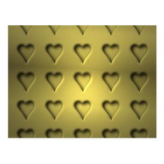 Goldene Valentinsgruß-Herzen Postkarte