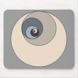 Goldene Verhältnis-Kreise Mousepad