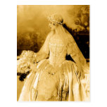 Goldene Vintage Braut-Fotografie Postkarten