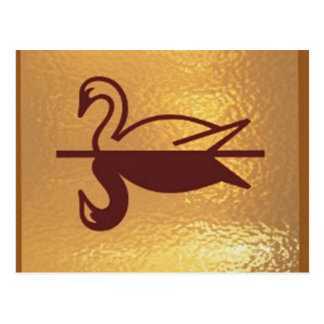 Goldene Vogel-Ente Postkarte