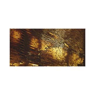 Goldene Wand Leinwanddruck