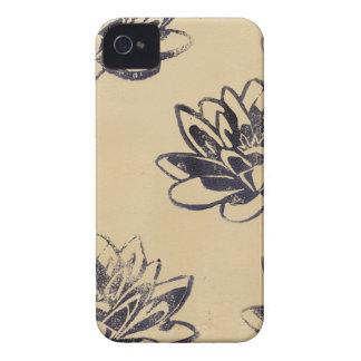 Goldene Wasser-Lilien zwei iPhone 4 Cover
