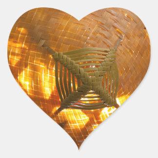 Goldene Webart Herz-Aufkleber
