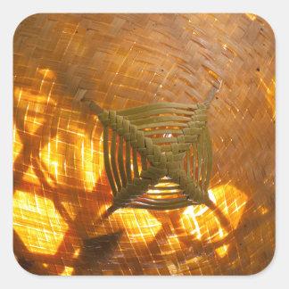 Goldene Webart Quadratischer Aufkleber