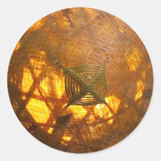 Goldene Webart Runder Aufkleber