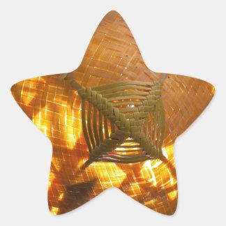 Goldene Webart Stern-Aufkleber