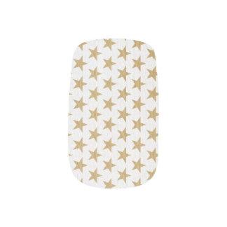Goldene Weihnachtsstern-Nagel-Verpackungen Minx Nagelkunst