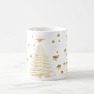 Goldene WeihnachtsTasse Kaffeetasse