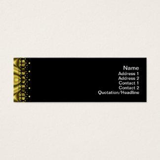 Goldene Wellen groß Mini Visitenkarte