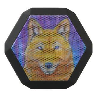 Goldene Wolf-Gesichts-Kopf-Fantasie Schwarze Bluetooth Lautsprecher