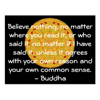 Goldene Wörter von Klugheit vom Buddha-Zitat Postkarte