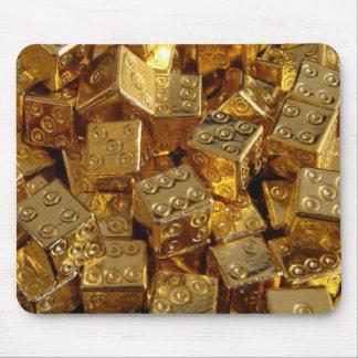 Goldene Würfel! Mousepads