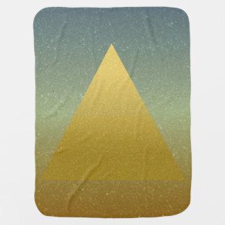 Goldene Wüsten-Pyramide Babydecke