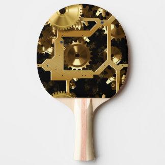 Goldene Zähne und Gänge 3 dimensional Tischtennis Schläger