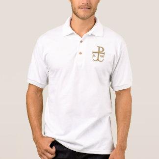 "Goldener ""3-D"" Chi-Rho mit Anker Polo Shirt"