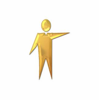 """Goldener """"3-D"""" Priester/Minister 2 Freistehende Fotoskulptur"""