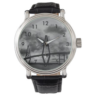 Goldener Abend an Arthur Ravenel Grayscale Armbanduhr