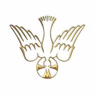 Goldener Abfall des Heiliger Geist Symbols Freistehende Fotoskulptur