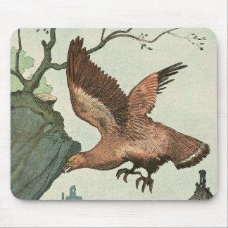 Goldener Adler-Geschichten-Buch illustriert Mauspads