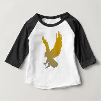 Goldener Adler-Silhouette Baby T-shirt