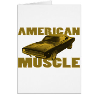 goldener amerikanischer Muskel 1968 des Ladegeräts Karte