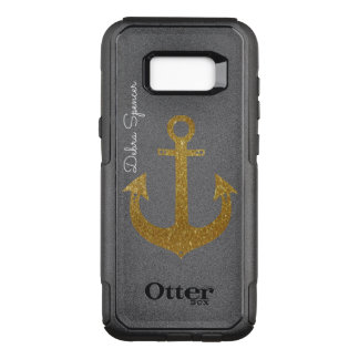 goldener Anker, personalisiertes See OtterBox Commuter Samsung Galaxy S8+ Hülle