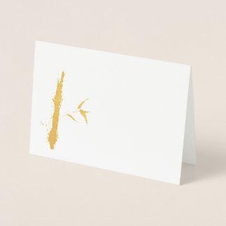 goldener Bambus Folienkarte
