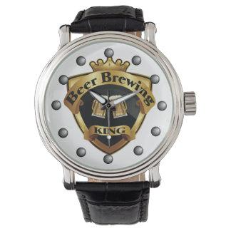 Goldener Bierbrauen-König Crown Crest Armbanduhr
