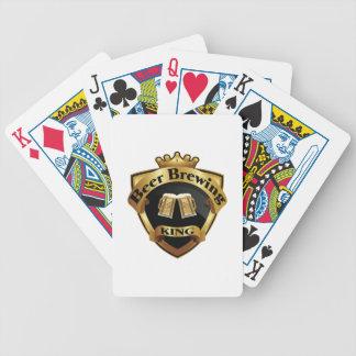 Goldener Bierbrauen-König Crown Crest Bicycle Spielkarten