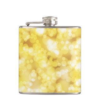 Goldener Bokeh Glitter Flachmann