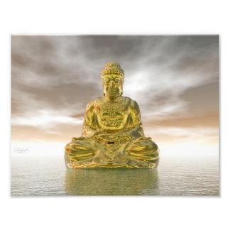 Goldener Buddha - 3D übertragen Fotodruck