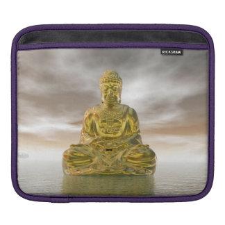 Goldener Buddha - 3D übertragen Sleeve Für iPads