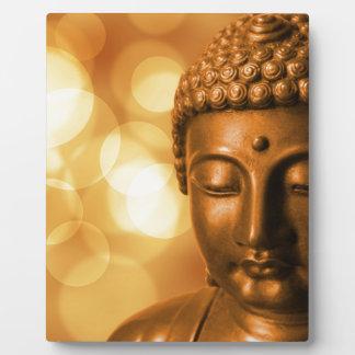 Goldener Buddha Fotoplatte